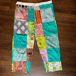Boho Hippie Patchwork Drawstring Pant